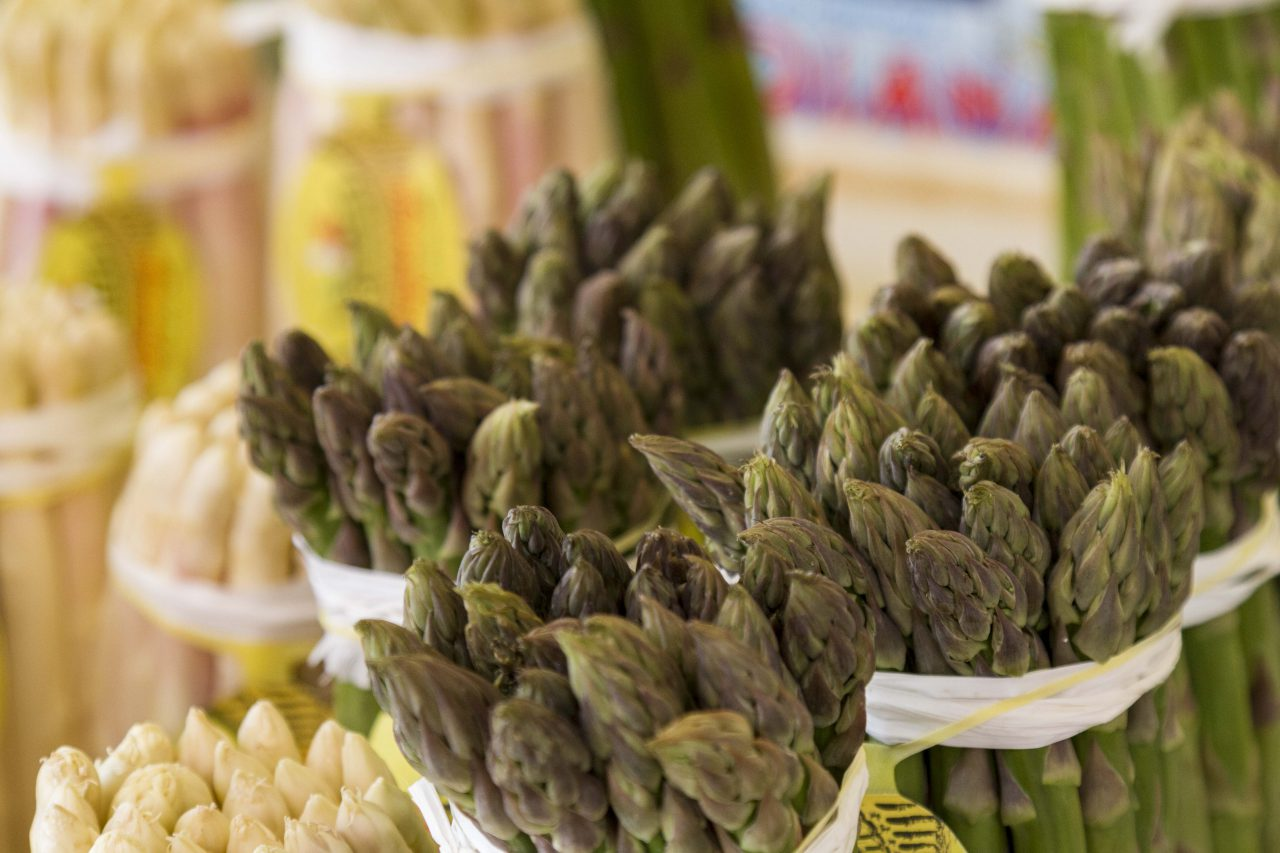 Asparagus, vegetable market, Venice, Italy