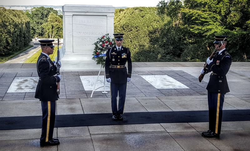 Changing of the Guard, Tomb of the Unknown, Arlington National Cemetery, Arlington, Virginia