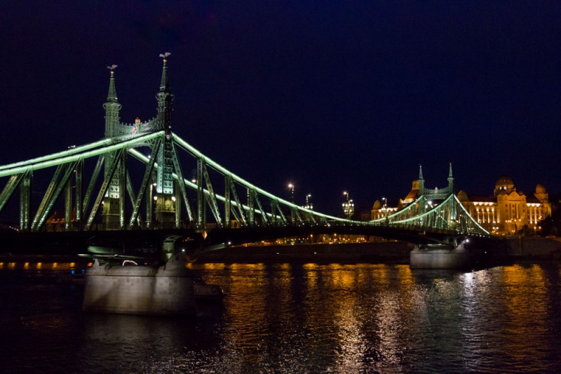 Freedom Bridge,  over the Danube connecting Buda and Pest, Budapest, Hungary