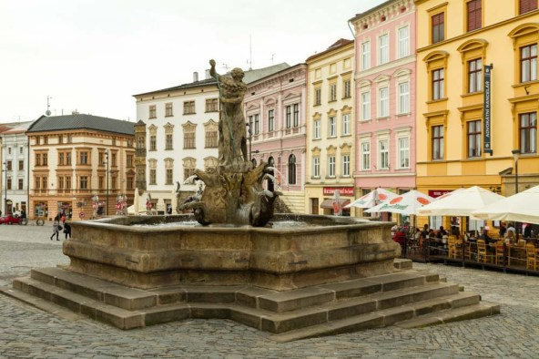 Baroque fountain, Olomouc, Czech Republic