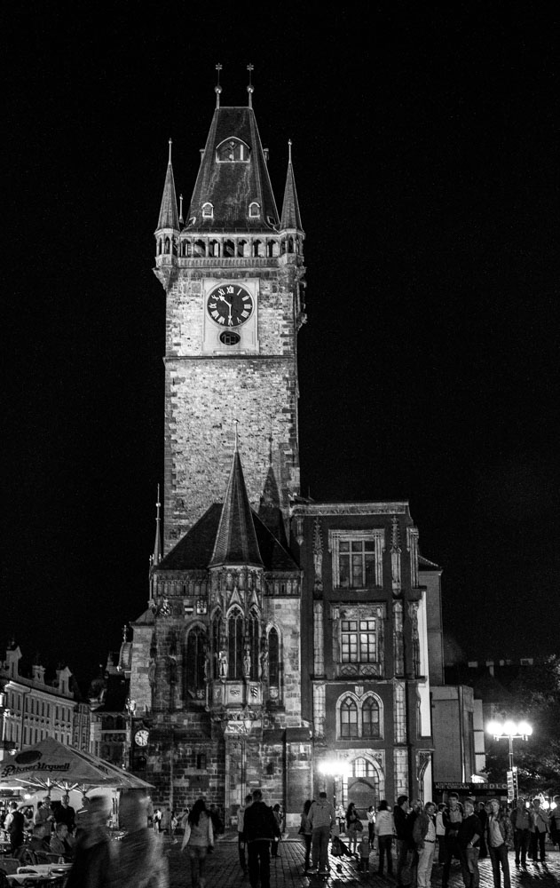 Clock Tower at City Hall, Prague, Czech Republic