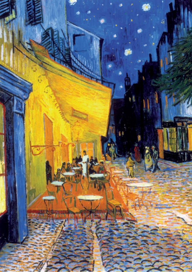 Cafe Terrace At Night, , Vincent VAn Gogh, Arles France, 1888