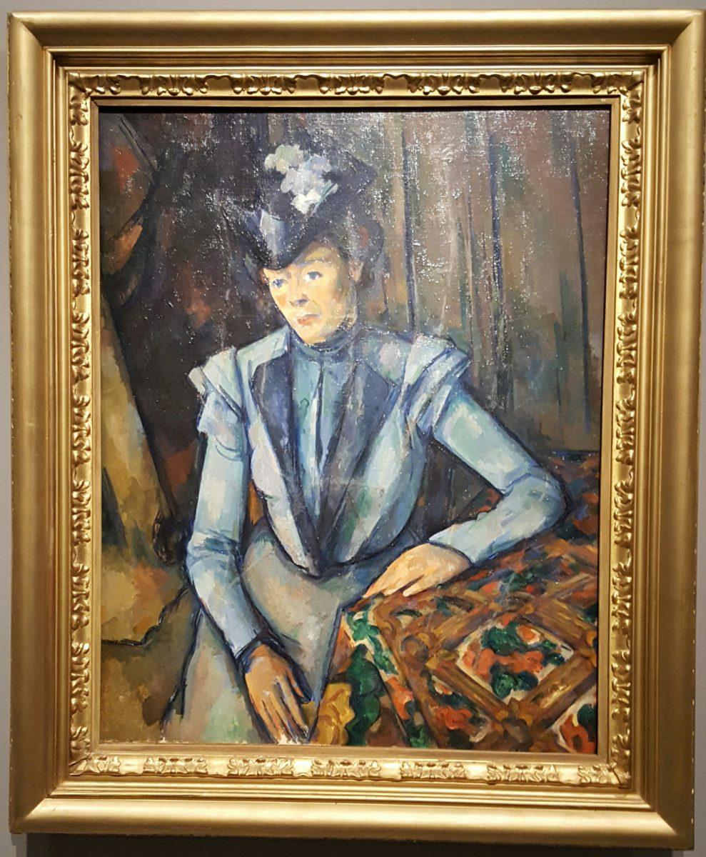 Cézanne, Lady in Blue, 1899.