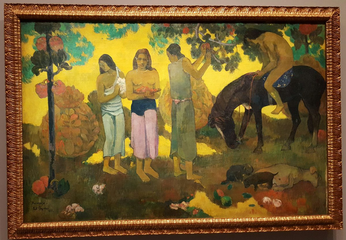 Gauguin, Gathering Fruit, 1899.