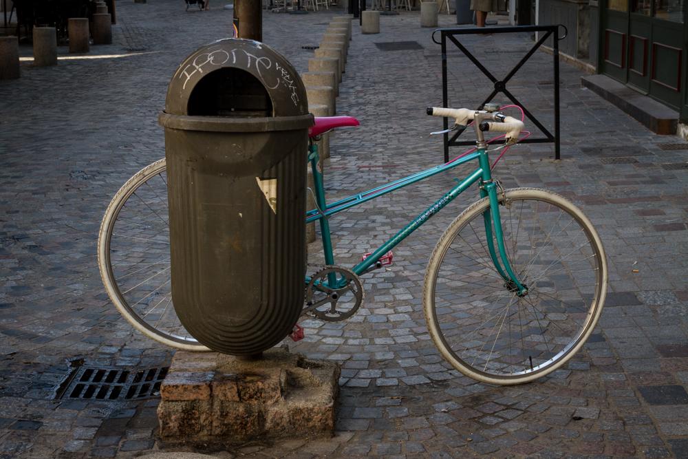 Innovative bike rack, Arles, France