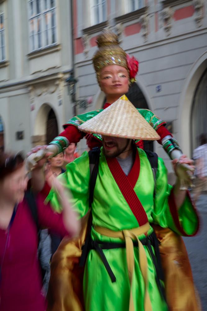 Street performer, Prague, Czech Republic