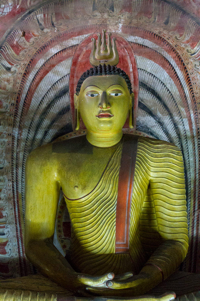 Seated Buddha, Dambulla Caves, Sri Lanka