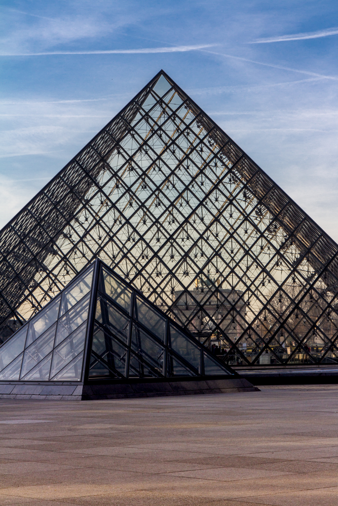 I. M. Pei Pyramids, Louvre, Paris, France