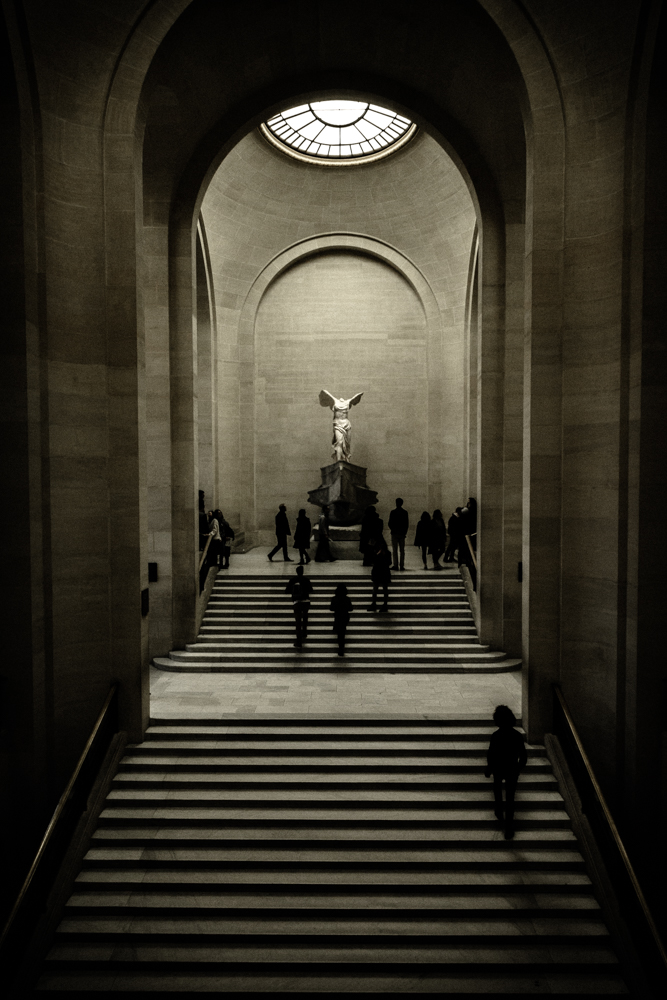 Grand staircase, Winged Victory of Samothrace, Louvre, Paris, France