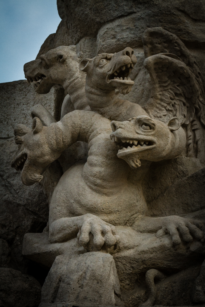 Dragons (perhaps), Parnas Fountain, Brno, Czech Republic