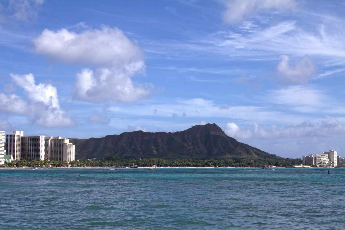 Diamond Head and Waikiki, Honolulu, Hawaii,