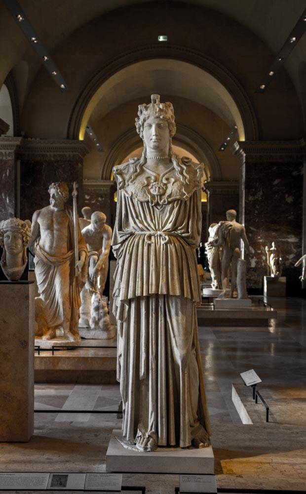 Athena Parthenos, Roman Copy (1st-2nd C. A.D.), Louvre, Paris, France