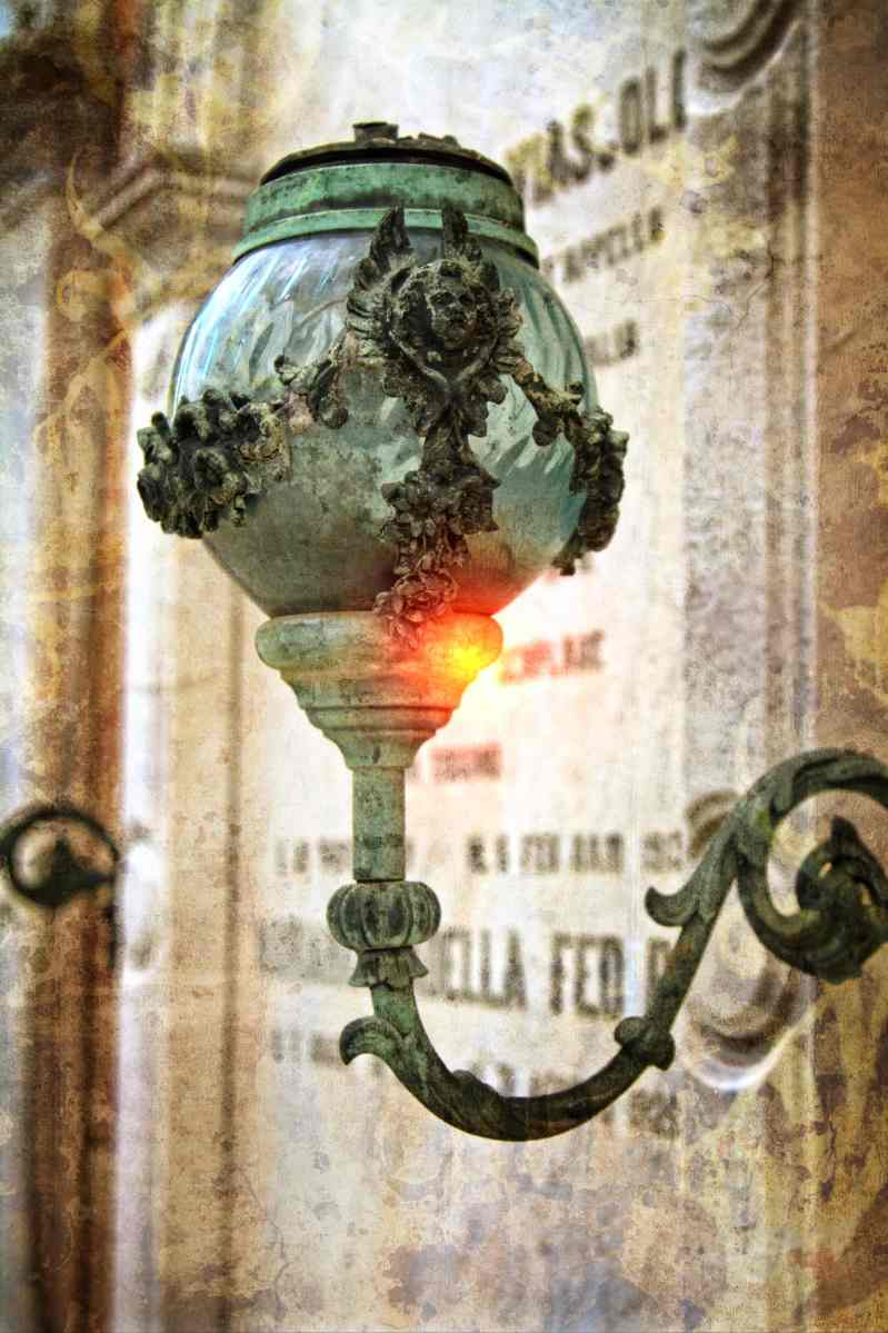 Dying Light, original photo in San Michele Cemetery, Venice, Italy