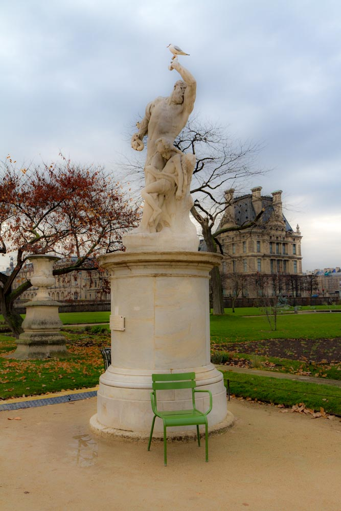 Statue, Tuileries Garden, Paris, France