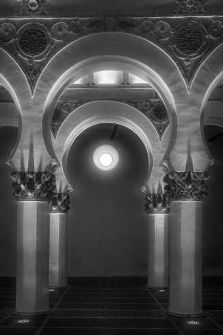 Architectural detail, Santa Maria del Blancha, Toledo, Spain