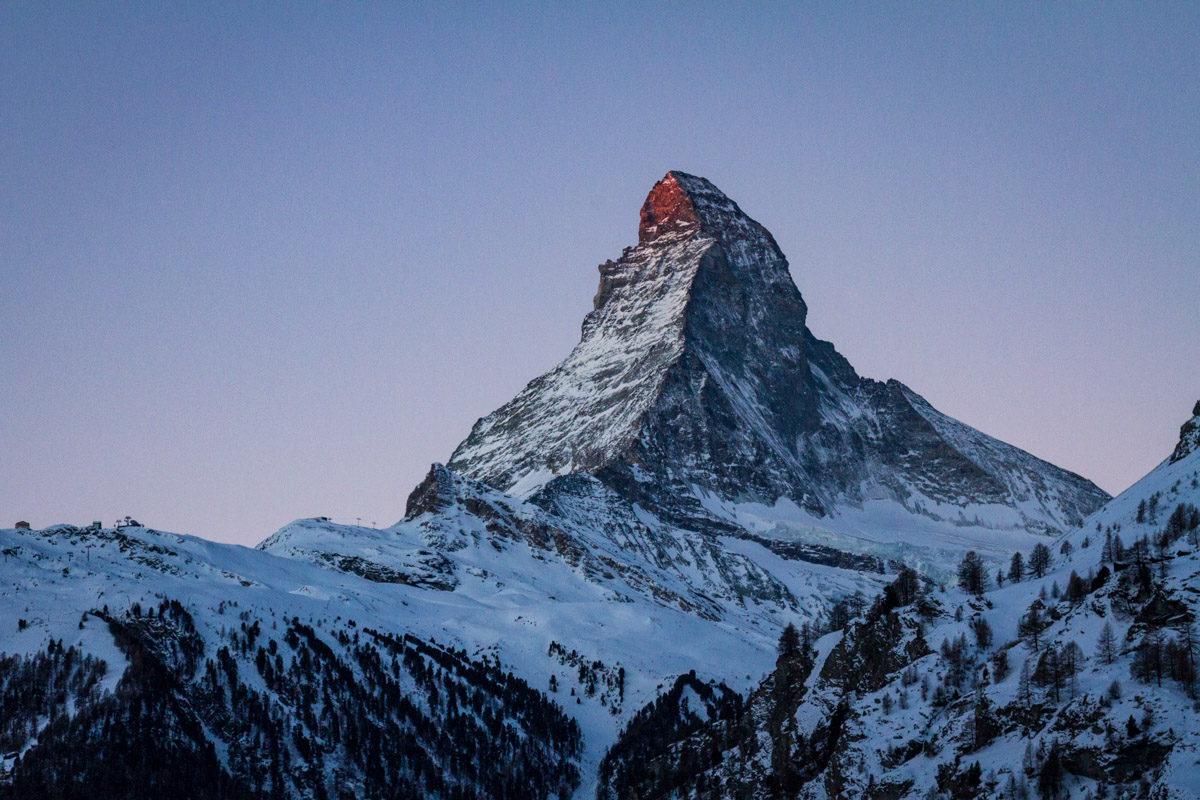 Early Morning View of the Matterhorn, Zermatt, Switzerland