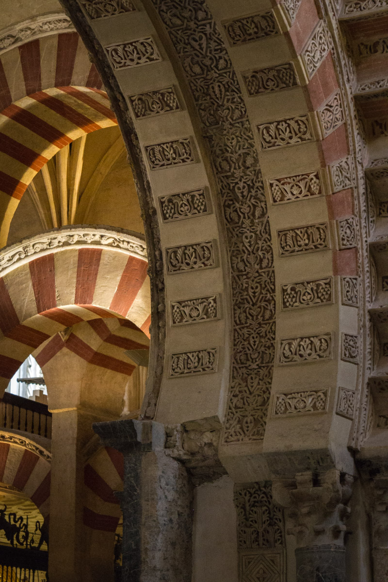 Arches, Mosque–Cathedral of Córdoba, Spain