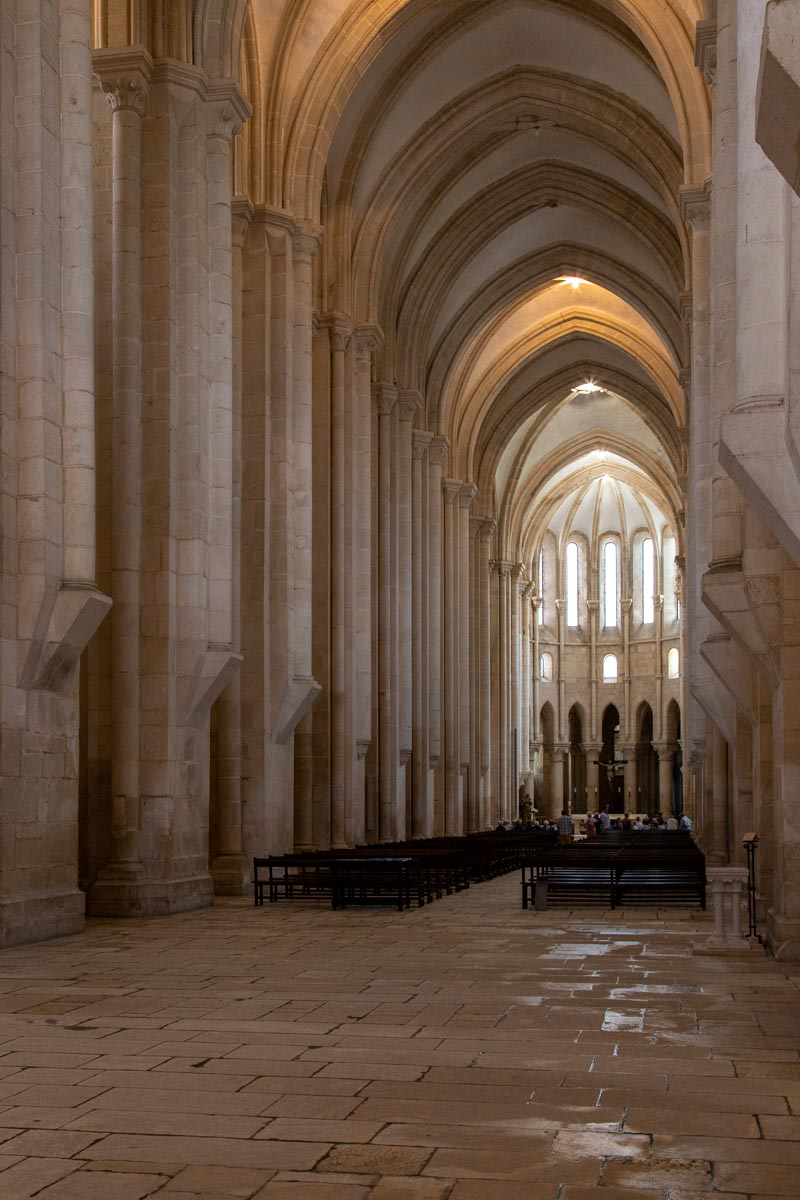 Alcobaça Monastery, Early Gothic Church, Cistercian Style, consecrated in 1252, Portugal