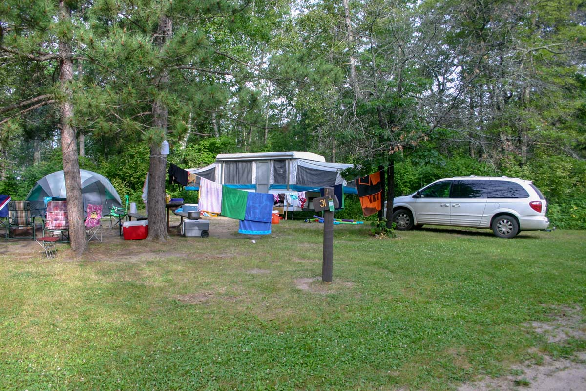 My sister's preferred campsite