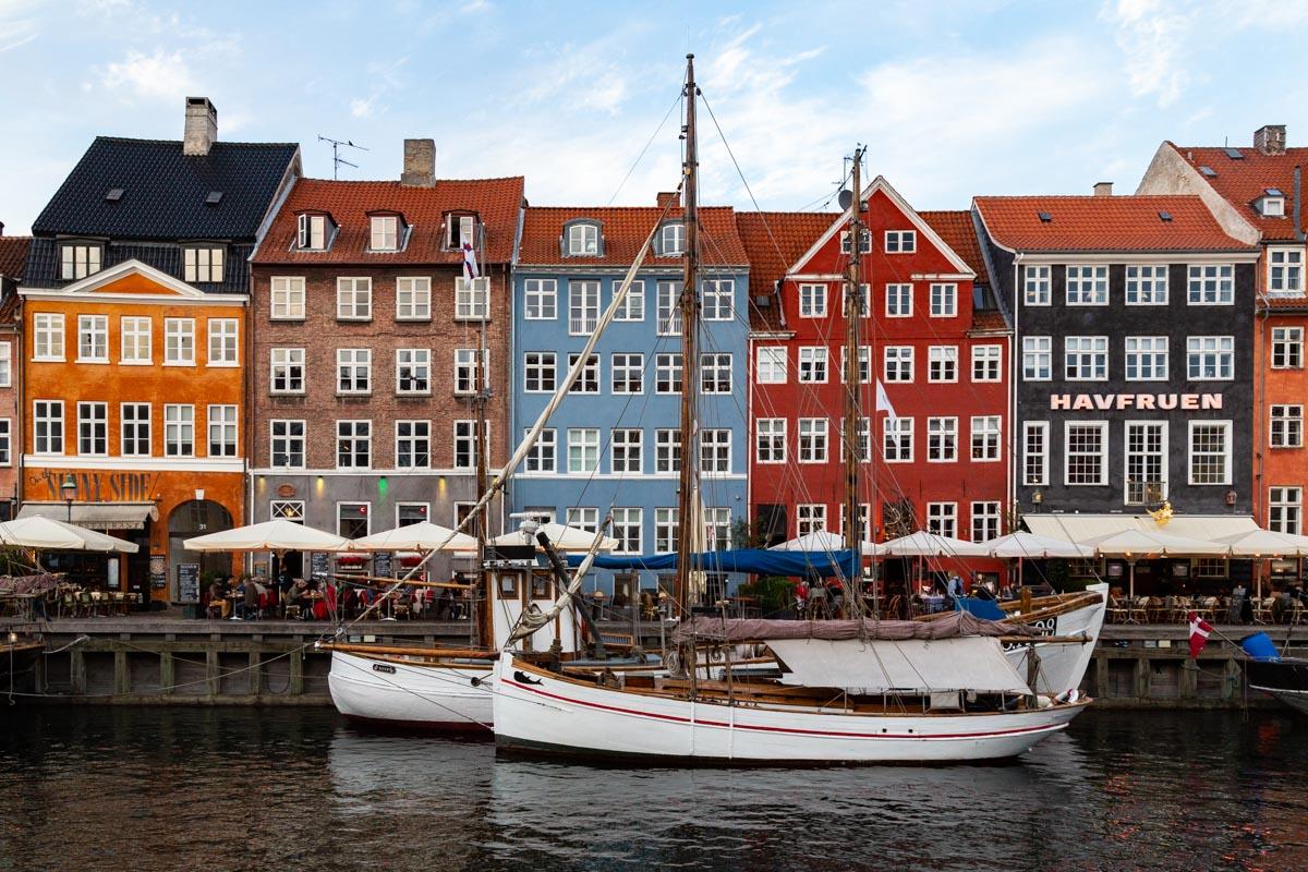 Sailboats, Nyhavn, Copenhagen, Denmark