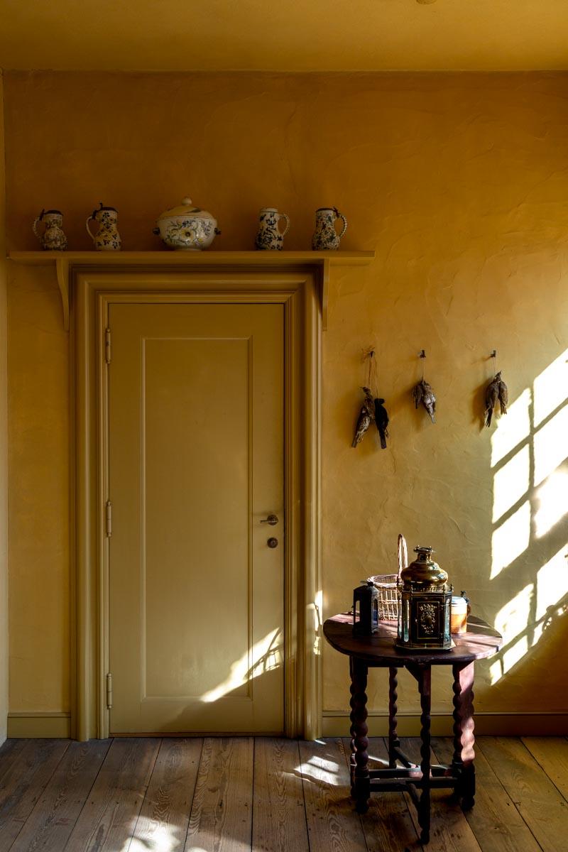 Tranquil Yellow Kitchen, Den Gamle By, Aarhus, Denmark